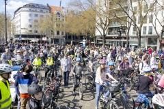 Kidical Mass Köln -Kinder auf das Rad - Start Rudolfplatz Gruppe