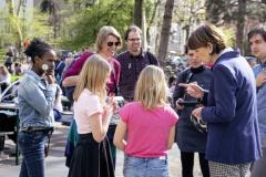 Kidical Mass Köln -Kinder auf das Rad - Kinder mit Oberbürgermeisterin Henriette Reker