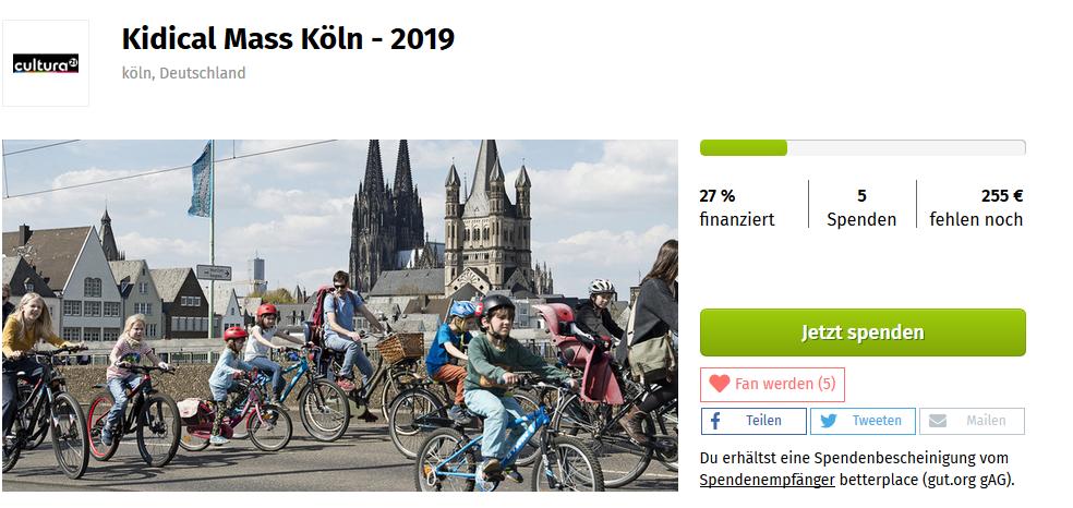Kidical Mass Köln Unterstützen Crowdfunding