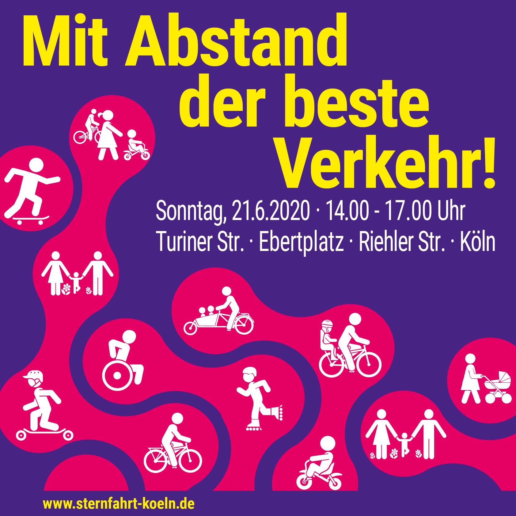 Sternfahrt Köln Pop-up Bike Lane