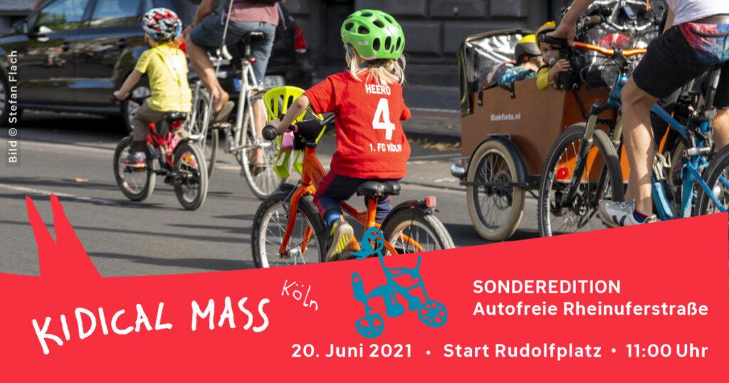 Kidical Mass autofreie Rheinuferstraße