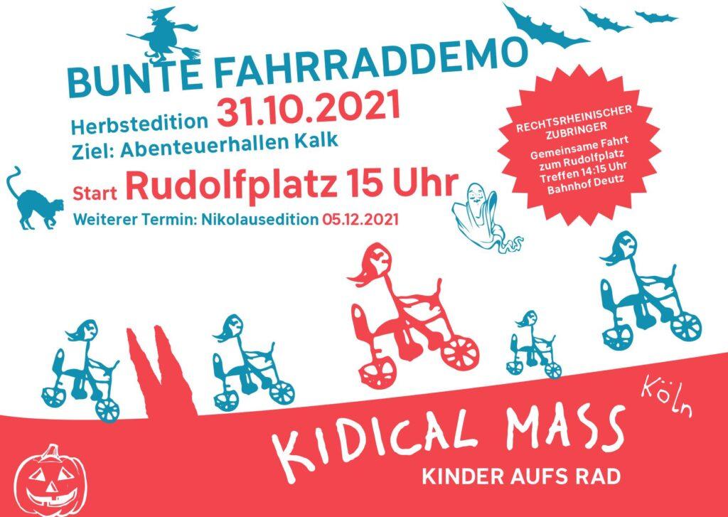 Kidical Mass Köln Oktober Flyer